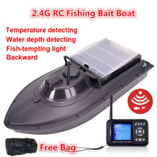 Free Bag JABO 2BD 20A/10A Water depth detecting Temperature detecting RC Fishing Bait Boat Fish finder bait boat RC Boat Gifts(China)