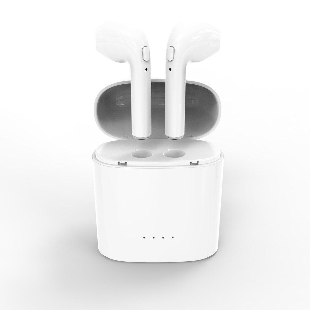 Беспроводной гарнитуры наушники, двойной ухо Мини Bluetooth наушники Динамик не Air накладки для Apple IPhone Android