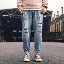 Inchiostro G Degli Uomini di Bovini di moda in 2019 jeans Strappati Moto Dei Jeans Nuovi Jeans di modo di Stile degli uomini di Usura di Forma Fisica di alta qualità high-end