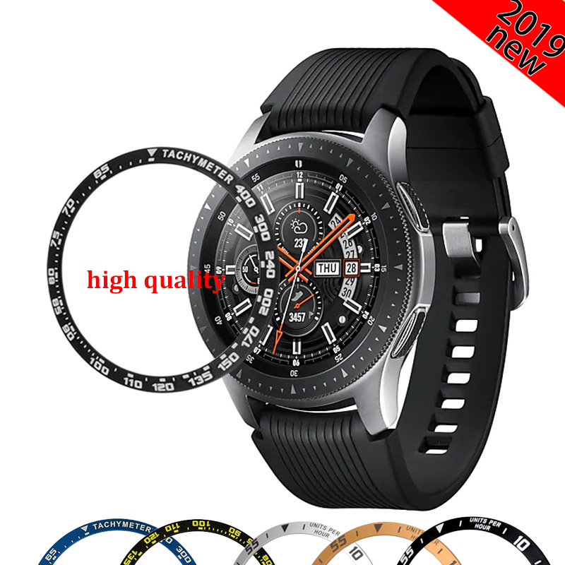 Gear S3 Bezel For Samsung Galaxy Watch 46mm 42mm Alloy Bezel Ring Adhesive Cover Anti Scratch Smart Watch Accessories