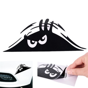 Black/White Peeking Monster Auto Car Walls Windows Sticker Graphic Vinyl Car Decal(China)