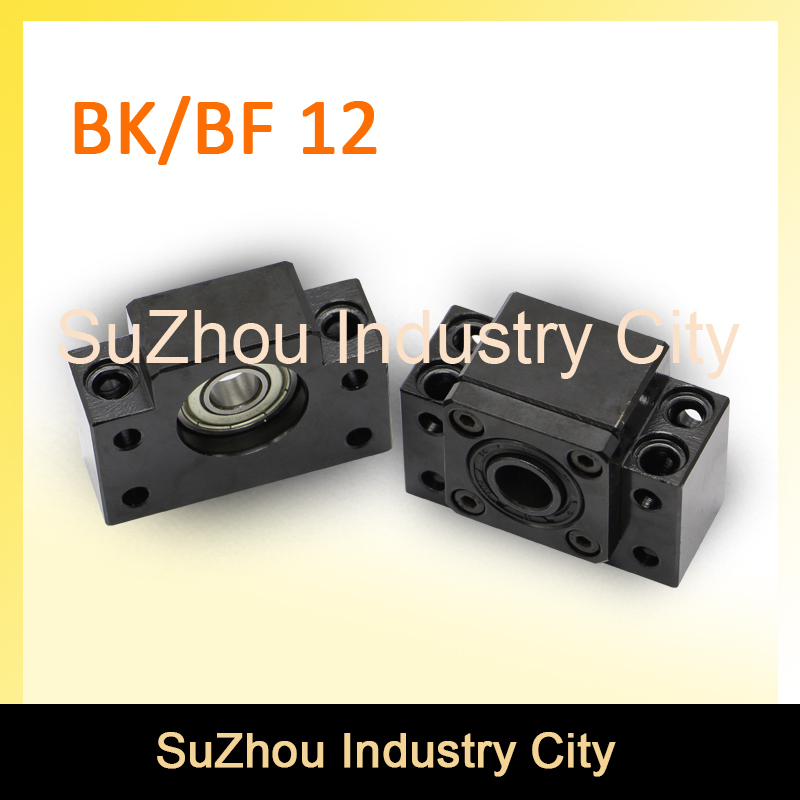 SFU1605/1610 Ball Screw  End Machine Support BK 12 + BF 12 CNC parts BK/BF12 bracket SFU 1605 & SFU 1610 fixmee performance bearing mounts high rigidity ff12 ball screw end support cnc
