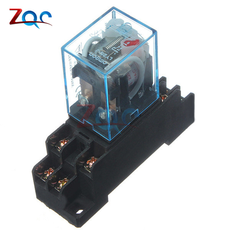 Coil Power Relay 220V AC LY2NJ Miniature Relay DPDT 8 Pins 10A 240VAC LY2 LY2 JQX-13F With PTF08A Socket Base the theater experience w cd rom