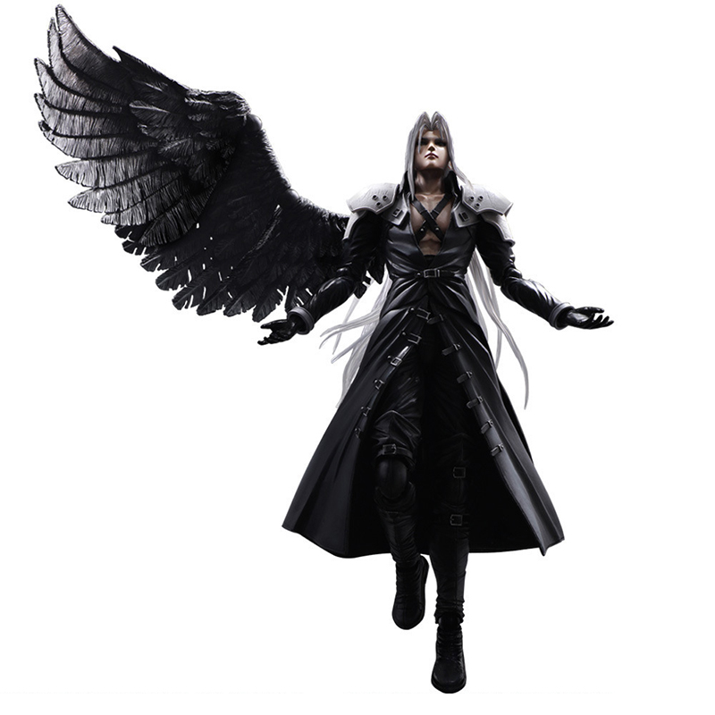 28cm Final Fantasy VII Sephiroth Action Figure Advent Children PLAY ARTS KAI  Games PVC Action Figure Movable Model Toys For Boys In Action U0026 Toy Figures  ...