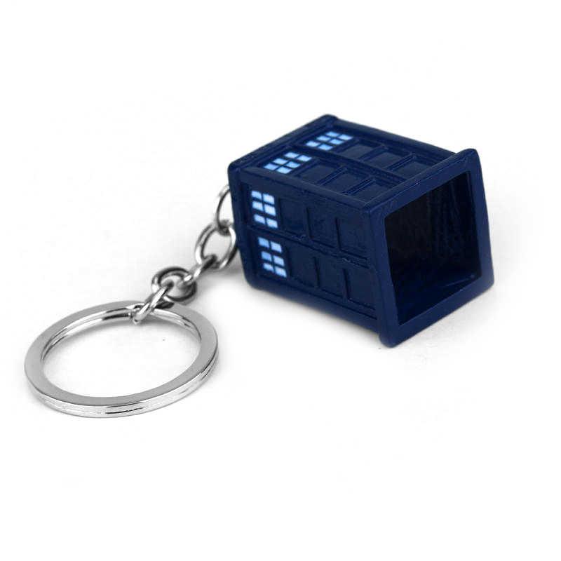 MQCHUN dalek dokter yang tardis police box vintage Pendant gantungan kunci keyring gantungan kunci Aksesoris untuk Wanita Pria Perhiasan-50