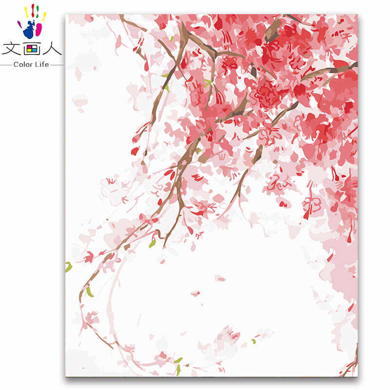 Painting by numbers watercolor plants flowers digital oil paint by numbers canvas modular numbers paintings by numbers with kits