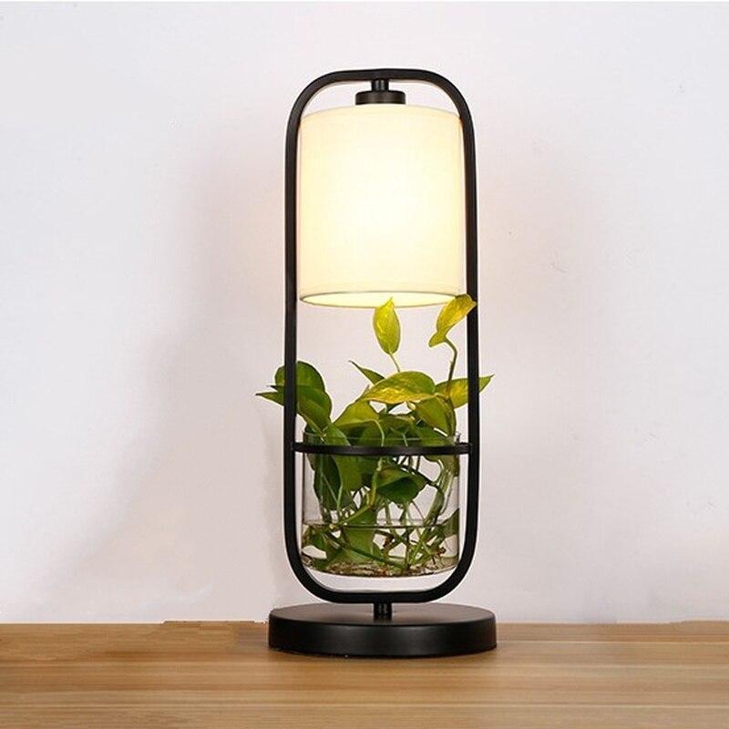 Lampes De Table De Pot De fleur moderne lampe De chambre créative lampe De chevet De salon éclairage déco