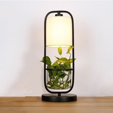 Modern Flower Pot Table Lamps Creative Bedroom Lamp Living Room Bedside Lamp Deco Lighting Lamparas De Mesa Para El Dormitorio(China)