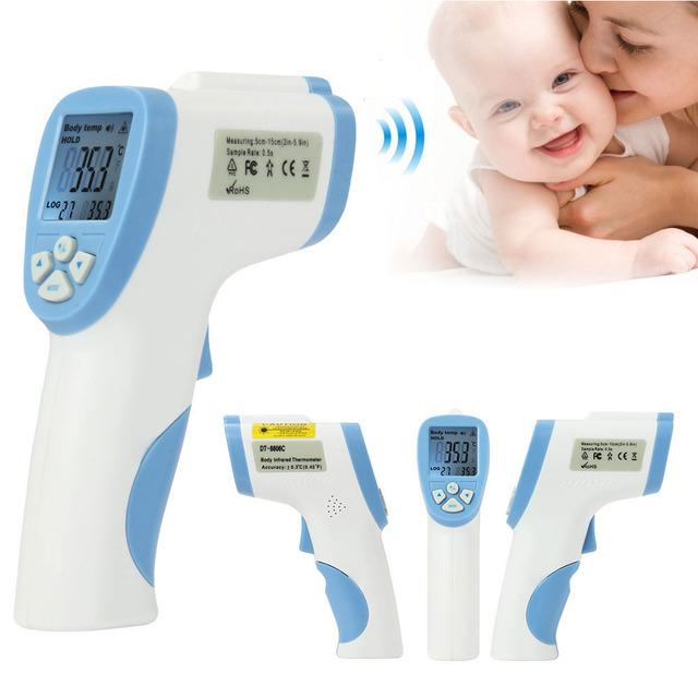 Cuidado de la salud Del Bebé Termómetros Infrarrojos Sin Contacto de La Frente de Temperatura Pistola Digital Cuerpo Fiebre Termómetro IR Koortsthermometer