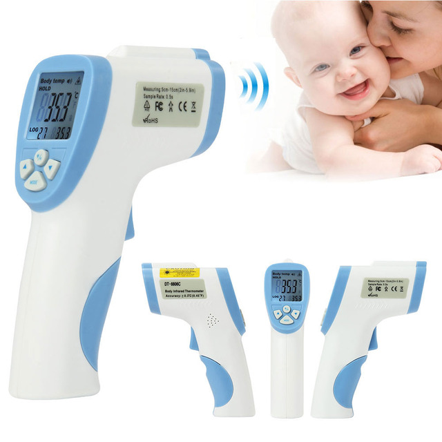 Health Care Baby Infrared Thermometers Non-Contact Forehead Temperature Gun Digital  Body Fever IR Thermometer Koortsthermometer