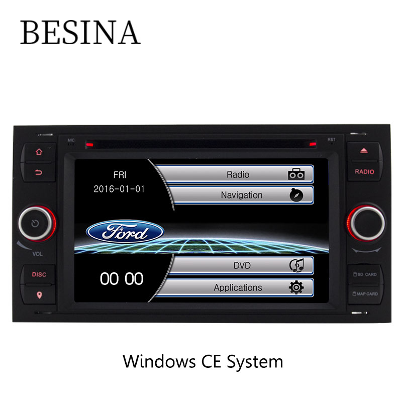 Besina Car DVD Player For Ford Focus/Focus II Kuga Mondeo Connect Transit Fiesta Galaxy Fusion Radio Multimedia Audio Bluetooth