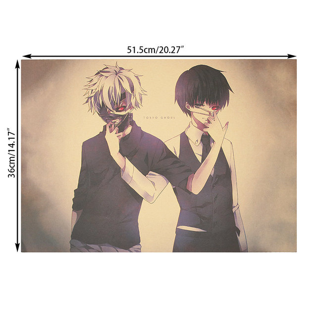 Tokyo Ghoul Poster Vintage Retro Wall Sticker