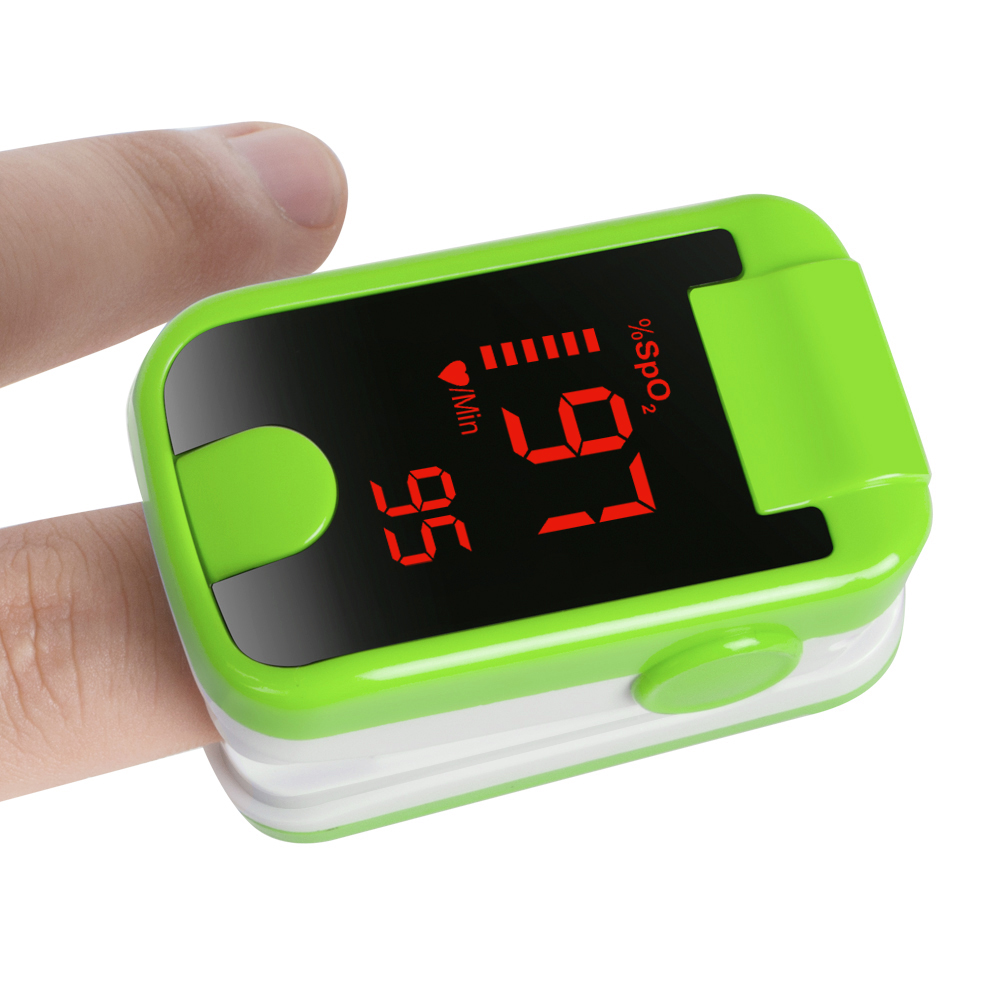 Finger Tip Pulse Oximeter Blood Oxygen SpO2 PR Monitor Portable LED Green Color