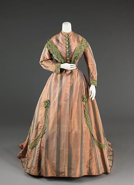 19th Century Victorian Dress – 1865 Civil War Victorian Afternoon Dress