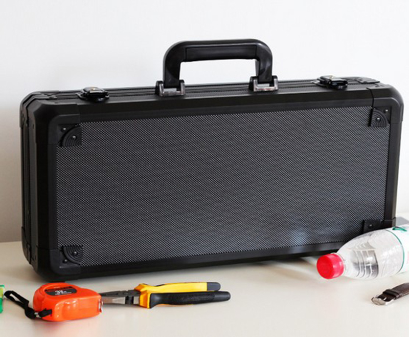 Aluminum Tool case suitcase toolbox File box Impact resistant safety case equipment camera case with pre cut foam lining in Tool Cases from Tools