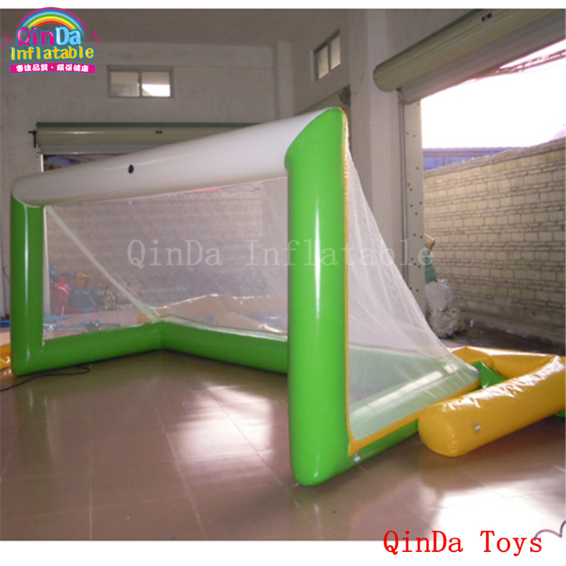 3m inflatable pop up soccer goal for training, water beach toys inflatable football gate for sale