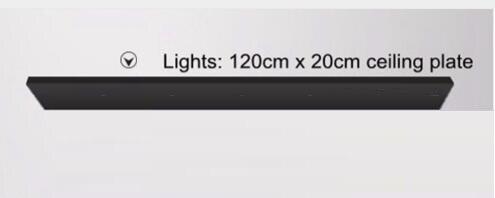 Accesorio de lámpara colgante LukLoy, toldo de placa largo/redondo montado en el techo, Kit de montaje personalizado de 120cm x 20cm para luces colgantes