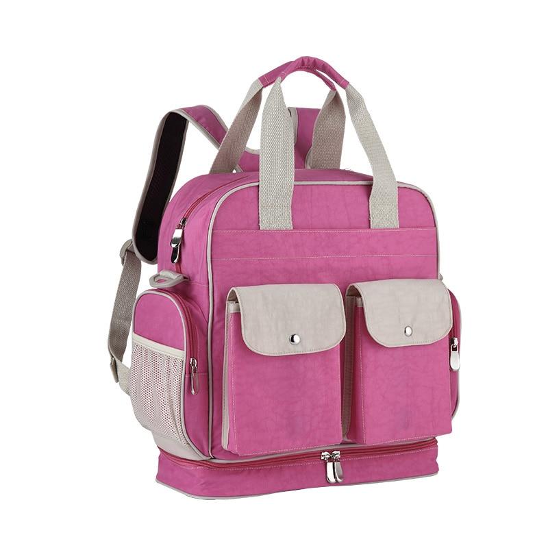 Insular Large Capacity Diaper Bag Backpack Waterproof Multifunctional Diaper Bag Backpack For Baby Care Maternal For Stroller