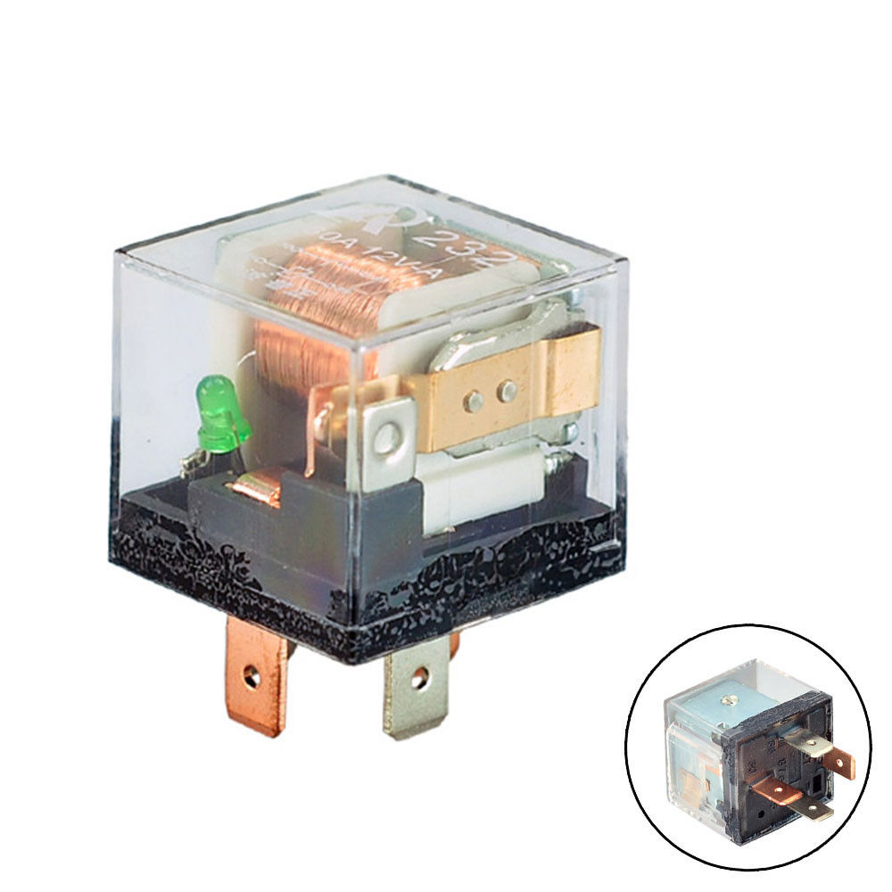 Car Relay Spst 12v 80a 4 Pin 4p Transparent Shell Prong 80 A Auto Universal Relays
