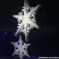 2 5m Featured Giant Inflatable Snowflake For Christmas Decoration With Led Lights 16 Colors Changeable With