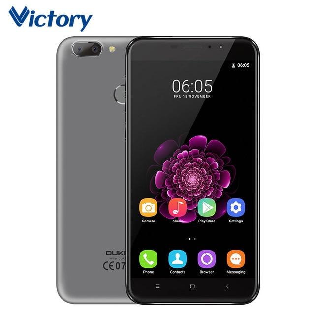 "OUKITEL U20 Plus Dual Camera Mobile Phone MTK6737T Octa Core Android 6.0 Cell phone 5.5"" 2GB RAM 16GB ROM Fingerprint Smartphone"