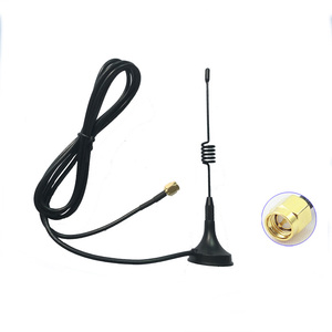 Image 1 - Walkie talkie Mini Antena de vehículo 433MHZ para vx6R vx5R antena 400 470MHZ radios de dos vías
