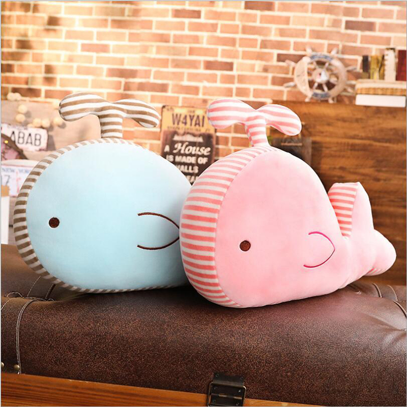 Lovely Small Whale Plush Toy Eiderdown Cotton Stuffed Doll Plush Pillow Creative Gift for Children Friend in Stuffed Plush Animals from Toys Hobbies