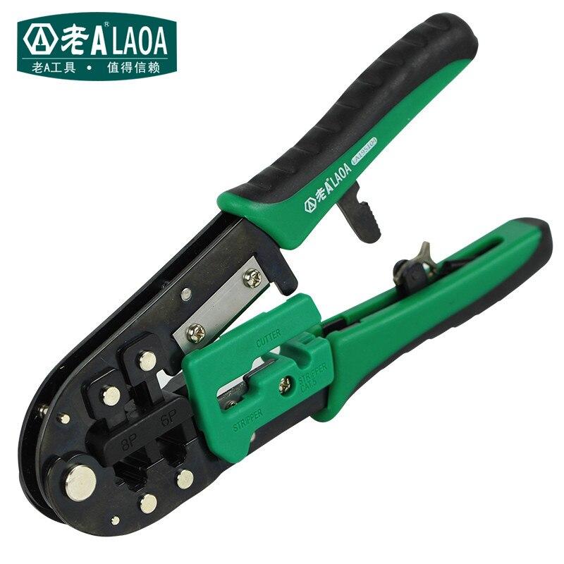 Laoa Hohe Qualität 8 P/6 P Netzwerk Zange Professionelle Kabel Reparatur Werkzeuge Multifunktions-ratschengriff Netzwerk Zange Handwerkzeuge