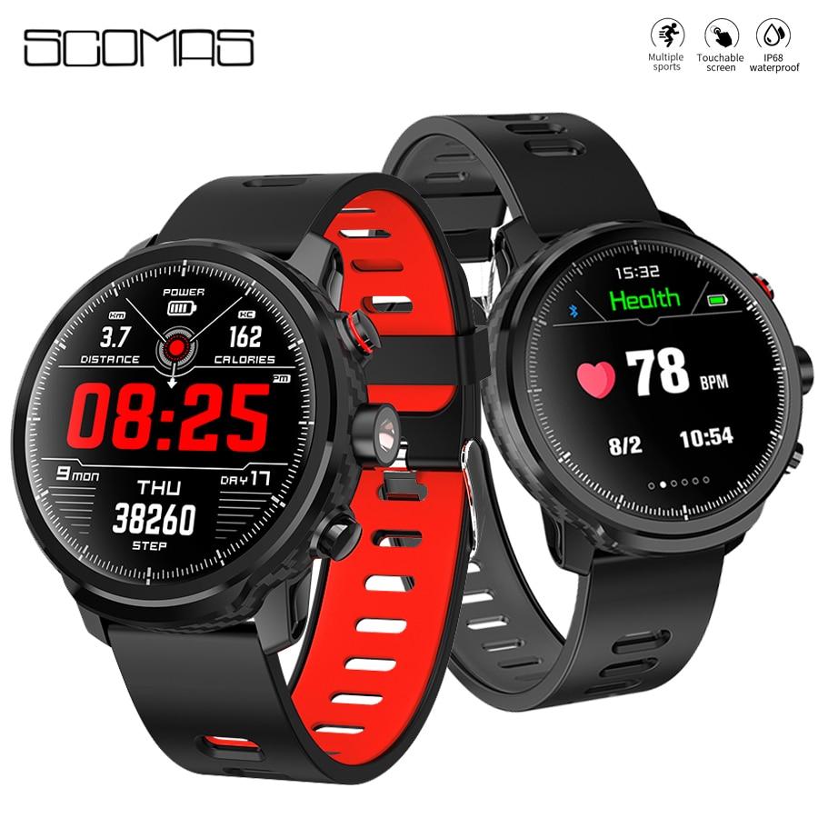 SCOMAS L5 Smart Watch 1 3 Round Display IP68 Swimming Waterproof HR Blood Oxygen Monitor Weather