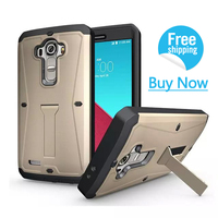 3 IN 1 Mobile Phone Case For LG G4 Multifunction Shell Heavy Duty Hybrid Anti Knock