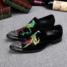 Мода Высокого Качества Замши Мужской Обуви Бизнес Свадебные Мужские Туфли Британский Стиль Острым Носом Формальная Обувь Плюс Размер