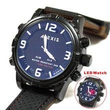 Мужские Водонепроницаемые светодиодные часы на силиконовом ремешке