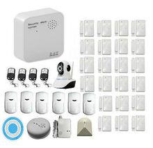 Módulo de Wifi + GSM Wireless Home Sistema de Alarma con Sirena De Alto Volumen y Detetcor Humo Inalámbrico Cámara IP para el Hogar seguridad