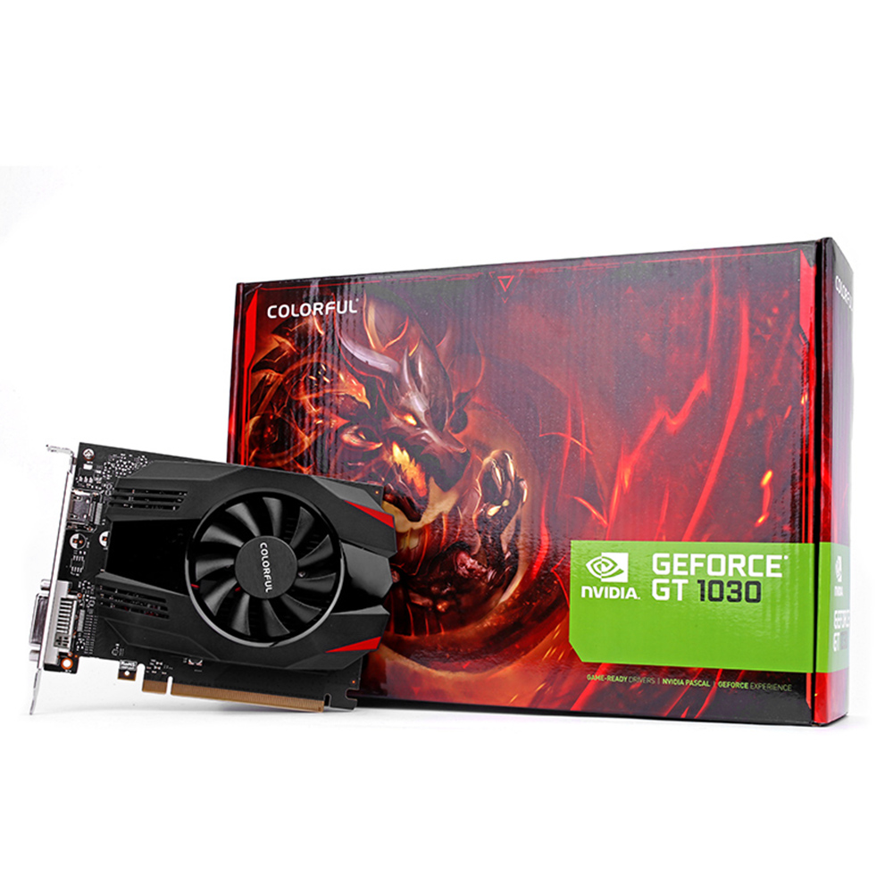 Colorful Desktop Graphics Nvidia Geforce Gt 1030 2g Gddr5 1227mhz Asus 2gb Ddr5 14nm 64bit Video Card 7680 X 4320 With One Fan For Pc Gamer In Cards From