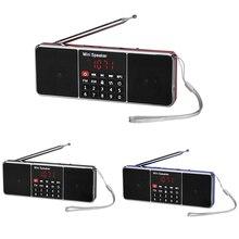 Altavoz de Radio FM portátil reproductor de música, altavoces de pantalla LCD, altavoz de Radio portátil, reproductor de música FM, tarjeta TF
