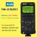 Meyin tw-836 n3 control timer inalámbrico disparador remoto para canon 10d 20D 30D 40D 5D Mark III 6D 7D Mark II Cámara de Control