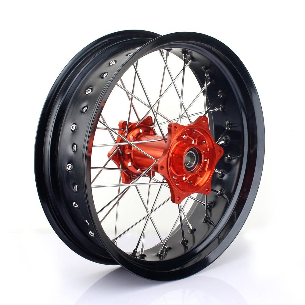BIKINGBOY 3 5 17 36 Spokes MX Supermoto Front Wheel Rim Hub For KTM EXC 300