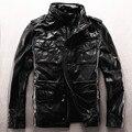 Exército M65 casaco roupas de couro genuíno outerwear de couro de vaca masculino jaqueta plus size mais tamanho grande jaqueta de couro piloto
