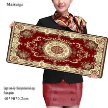 Free Shipping Persian Carpet Mouse Pad Gaming Large XL Locking Edge Mat Office Speed Control Version 800*400mm Computer Mice