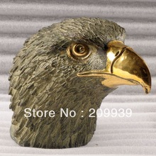 00441`Gilding bronze eagle sculpture statue Parcel Gilt 8.3″ 1.8kg