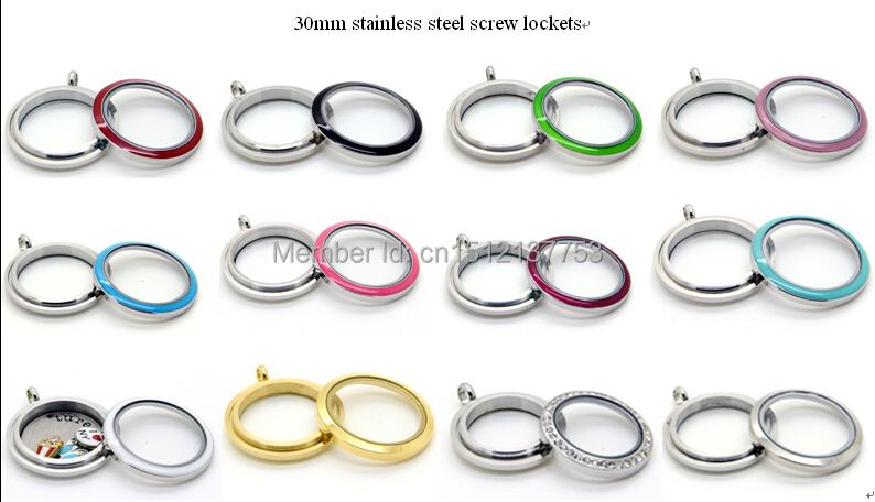 30mm stainless steel screw lockets