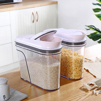 1pcs Sealed cans grain storage tank plastic kitchen large dry goods storage box food storage jar wx10181351