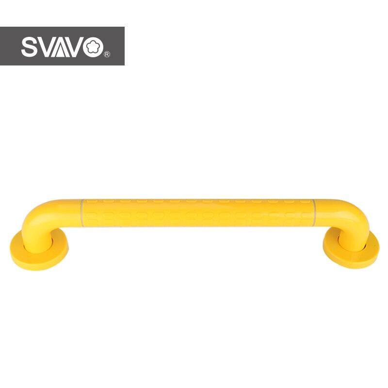 SVAVO Wall Mounted Plastic Stainless Steel Toilet I Shape Handrail Safety Bar Bathroom Shower Grab Bars shape i