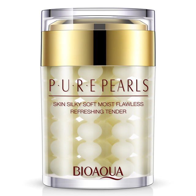 60 ml BIOAQUA cristalina del puro perlas cara Crema de cuidado de la piel impecable blanqueamiento hidratante de Agless Anti arrugas día cremas