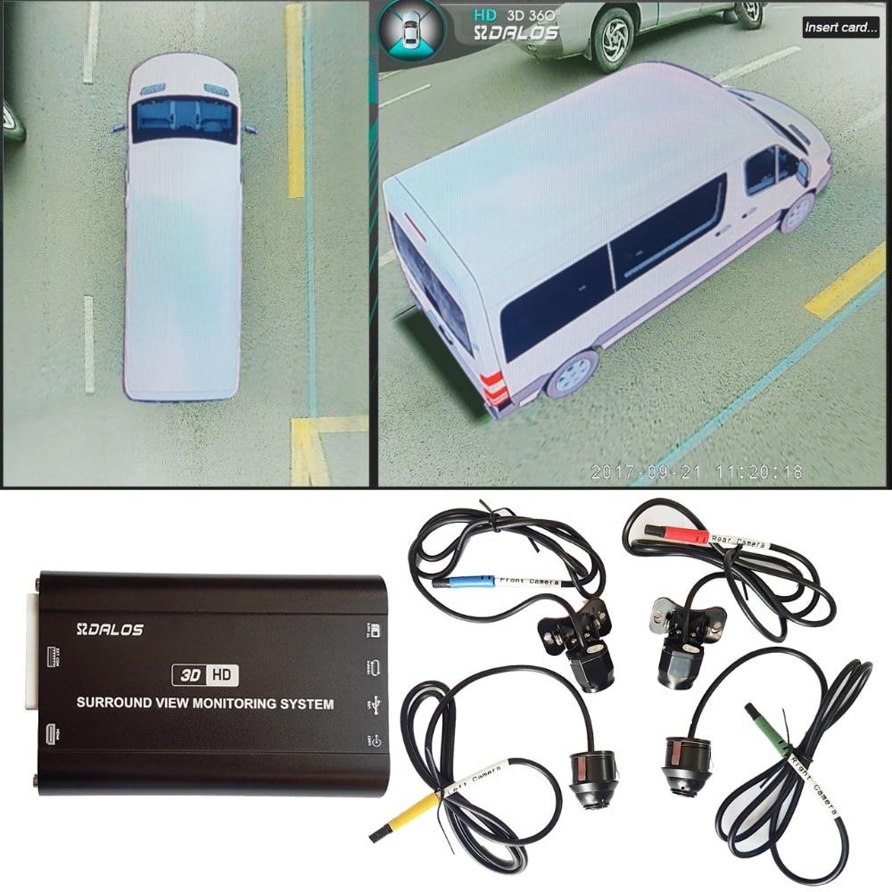 Opinião do pássaro Sistema de câmera para Sprinter/Pickup truck/H3 SUV grande HD 3D 360 Surround View System 1080 p DVR G-Sensor