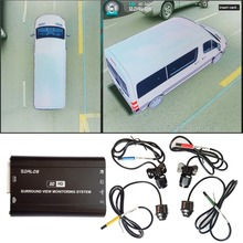 System kamer z widokiem na ptaki dla Sprinter/ciężarówka typu pickup/H3 duży SUV HD 3D 360 Surround View System 1080P DVR g sensor