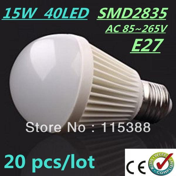 20pcs/lot Bubble Ball Bulb SMD2835 15/25/35/40LED 6W/9W/12W/15W E27 High power Energy Saving Ball steep Free DHL and FEDEX