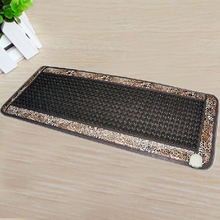 Best Quality Leopard Design Jade Mat Natural Tourmaline Sofa Mat Jade Health Care Pad infrared Heat Cushion! Free Shipping