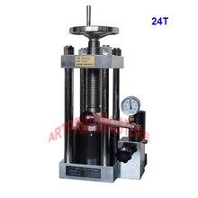Lab Manual IR Pellet Tablet Press Powder Presser w/ Hydraulic Pump 24-Ton