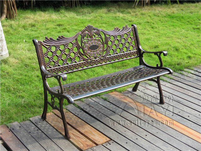 Marvelous 51u2033 Patio Garden Bench Park Yard Outdoor Furniture Cast Aluminum Frame  Porch Chair
